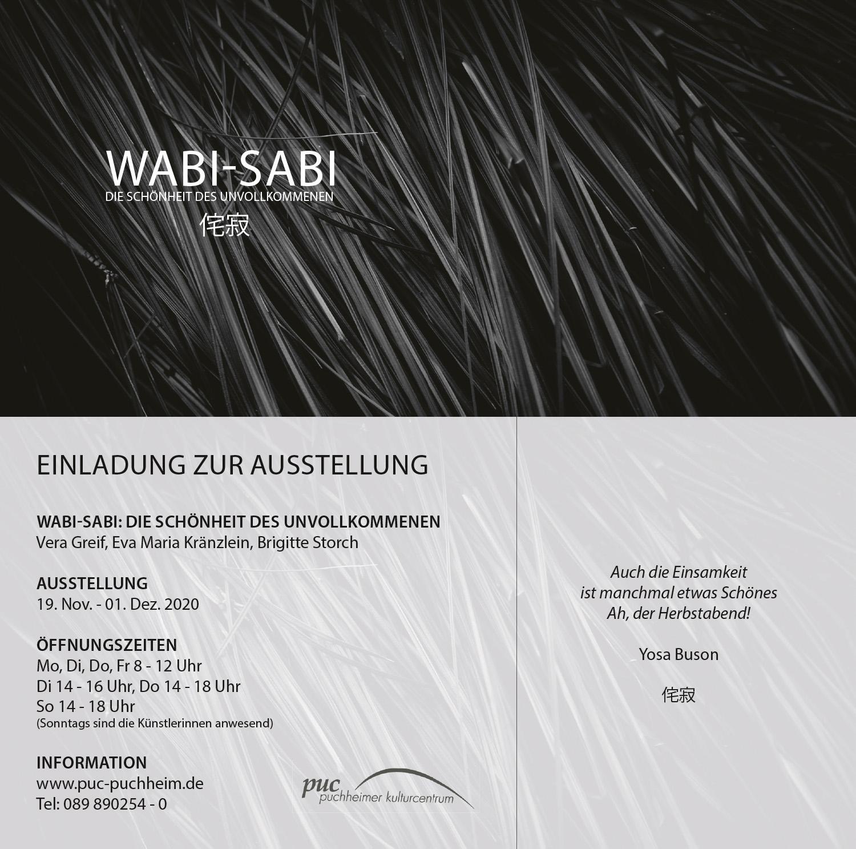 Einladung Ausstellung Wabi-Sabi